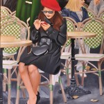 Meet me in Paris, oil on canvas, 60x90 cm, unframed (SOLD)
