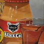 Black cat peanut butter bottle