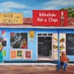 Soweto Fish & Chips, oil on canvas, 100x70 cm unframed (SOLD)