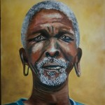 Soweto man, oil on canvas 46x61 cm unframed