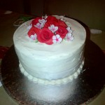 Rose buttercream cake